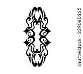 tattoo tribal vector design.... | Shutterstock .eps vector #329060135