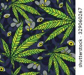 seamless cannabis pattern | Shutterstock .eps vector #329060267