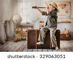 little boy in the image of a... | Shutterstock . vector #329063051