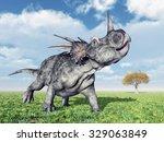 Dinosaur Styracosaurus Compute...