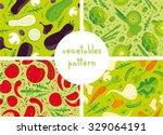 vegetables vector seamless... | Shutterstock .eps vector #329064191