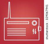 radio silhouette. vector line ... | Shutterstock .eps vector #329067941
