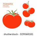 Tomato. Isolated Vegetables On...