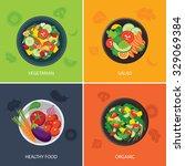 food web banner flat design.... | Shutterstock .eps vector #329069384
