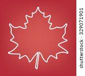 maple leaf. line icon | Shutterstock .eps vector #329071901
