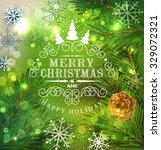 christmas festive vector... | Shutterstock .eps vector #329072321