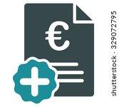 euro medical invoice vector... | Shutterstock .eps vector #329072795
