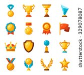sport or business trophy award... | Shutterstock .eps vector #329078087