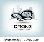 drone quadrocopter logo template | Shutterstock .eps vector #329078684