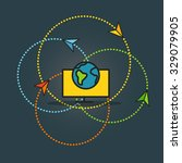 abstract transportation scheme. ...   Shutterstock .eps vector #329079905