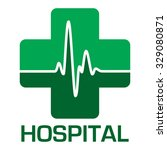 illustrated hospital icon in... | Shutterstock .eps vector #329080871
