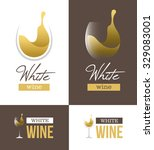 abstract white wine logo with... | Shutterstock .eps vector #329083001