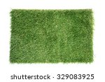 artificial turf tile on a white ... | Shutterstock . vector #329083925