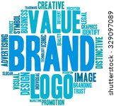 brand word cloud on a white... | Shutterstock .eps vector #329097089