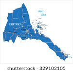 eritrea map | Shutterstock .eps vector #329102105