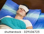 young handsome sick or unwell... | Shutterstock . vector #329106725