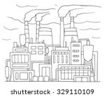 industrial cartoon sketch of... | Shutterstock .eps vector #329110109
