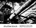 metal industrial piping of a... | Shutterstock . vector #329112125
