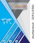 blue brochure template design | Shutterstock .eps vector #329115581