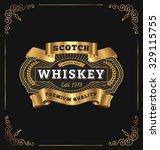 vintage frame label design.... | Shutterstock .eps vector #329115755