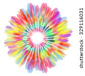 colorful abstract flower icon ... | Shutterstock .eps vector #329116031