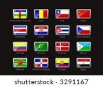 flag icon set  part 3  | Shutterstock . vector #3291167