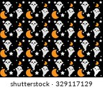 seamless vector cartoon pattern ... | Shutterstock .eps vector #329117129