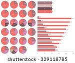 vector set of infographics  pie ... | Shutterstock .eps vector #329118785