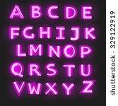 alphabet. neon lamp style. | Shutterstock .eps vector #329122919