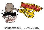 hard monday illustration   Shutterstock .eps vector #329128187