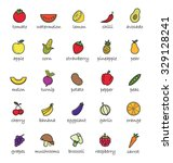 fruits and vegetables color... | Shutterstock .eps vector #329128241