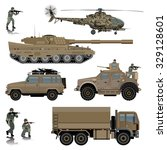set of military vehicles. tank  ...