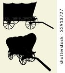 western stage coach wagon...   Shutterstock .eps vector #32913727