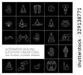 alternative healing and... | Shutterstock .eps vector #329138771