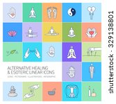 alternative healing and... | Shutterstock .eps vector #329138801