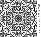 mandala. coloring page. vintage ... | Shutterstock .eps vector #329142881