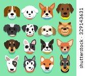 set of cartoon dogs | Shutterstock .eps vector #329143631