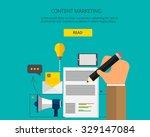 banner for content marketing... | Shutterstock .eps vector #329147084