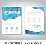 abstract modern cover  report   ... | Shutterstock .eps vector #329173811