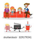 vector illustration of a family ... | Shutterstock .eps vector #329179241