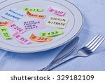 colorful papers imitating food...   Shutterstock . vector #329182109