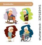 grandmother cartoon character.... | Shutterstock .eps vector #329183441