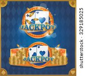 casino background poker and... | Shutterstock .eps vector #329185025