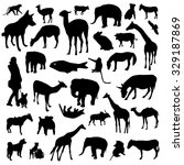 set of animals silhouettes   Shutterstock .eps vector #329187869