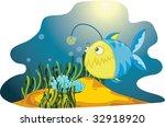 angler fish  vector... | Shutterstock . vector #32918920