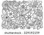 Floral Pattern For Coloring...