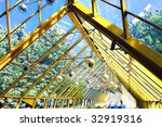 yellow abstract ceiling in... | Shutterstock . vector #32919316