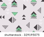seamless hand drawn triangles... | Shutterstock .eps vector #329195075