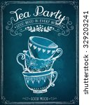illustration with the words tea ... | Shutterstock .eps vector #329203241