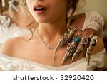 iron hand on the bride's neck.... | Shutterstock . vector #32920420